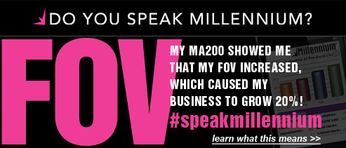 My MA200 showed me that my FOV increased, which caused my business to grow 20%! #speakmillennium