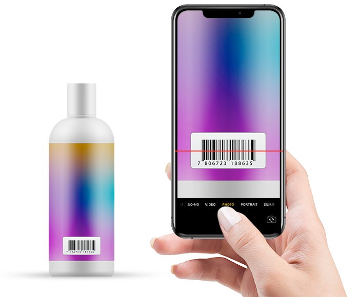 Meevo 2 scans barcodes with mobile phone
