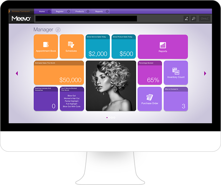 Meevo 2 Manager Dashboard